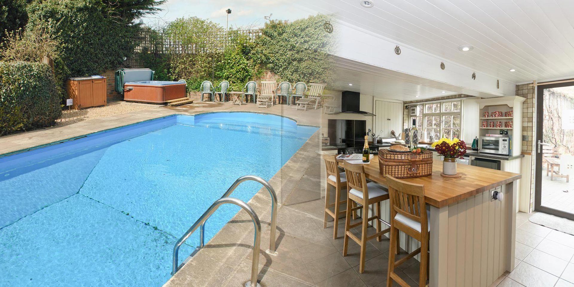 York pool party house celebration cottages - Hen party houses with swimming pool ...